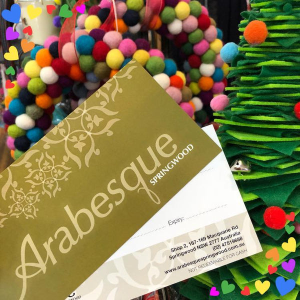 Arabesque Gift Vouchers