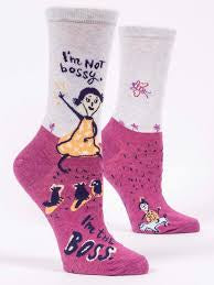 I'm Not Bossy Socks - Crew