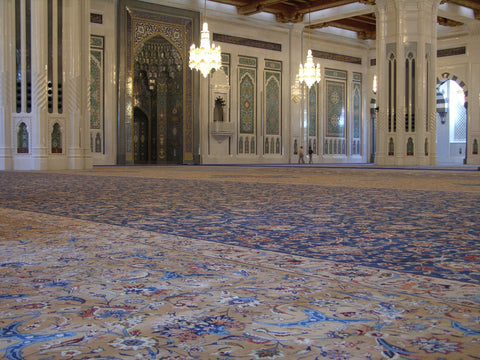 Majestic Mosque with a Wool Carpet