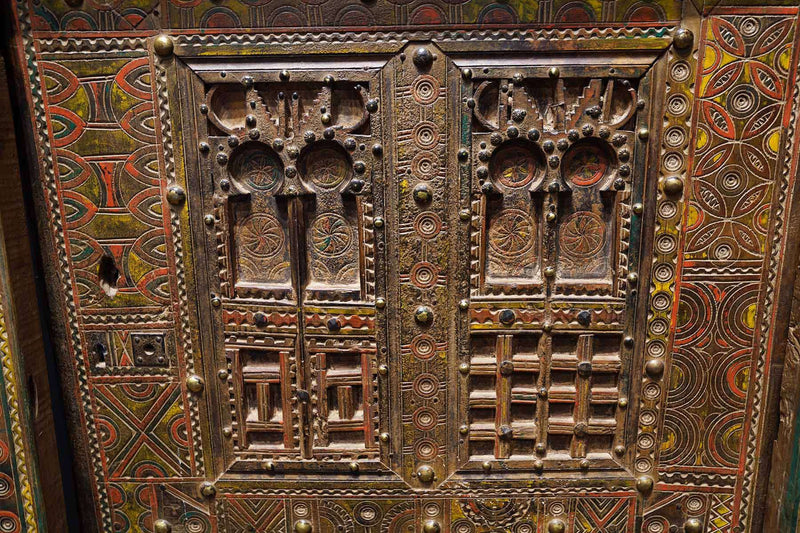 patterns and engravings on an Antique Moroccan Door