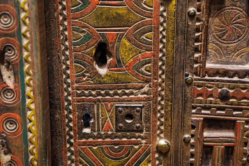 locks of an Antique Moroccan Door