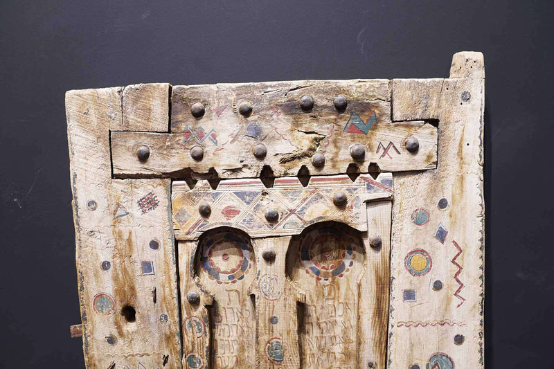 high end of an Antique Moroccan Door