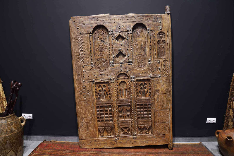 display of an Antique Moroccan Door