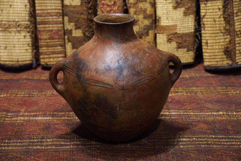 Antique Moroccan Pot from the sides