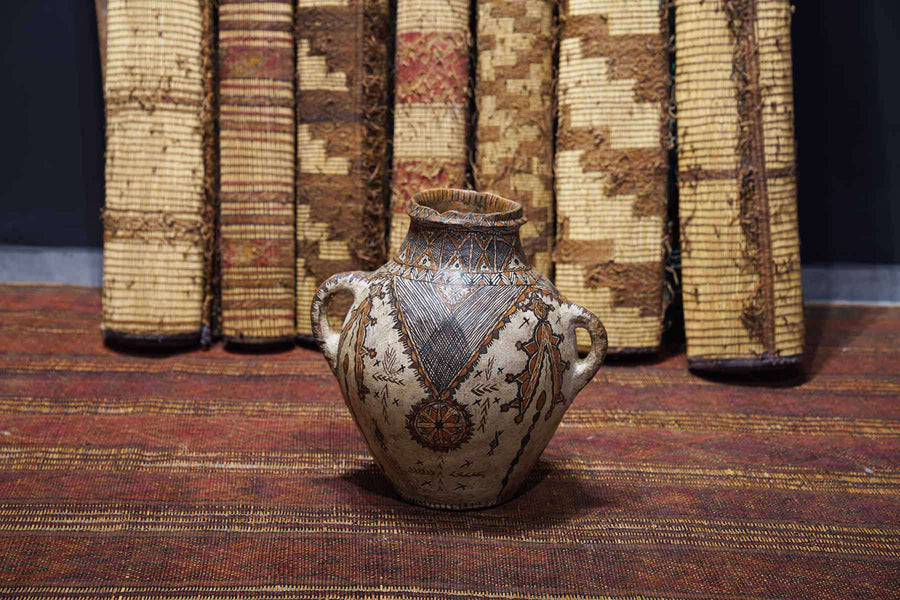 patterns on an Antique Moroccan Pot