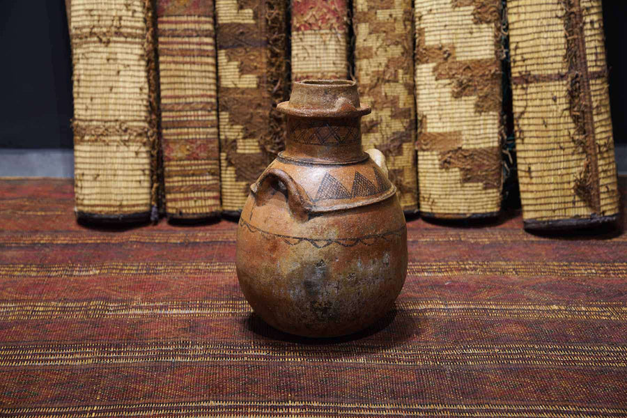 Antique Moroccan Pot from the side