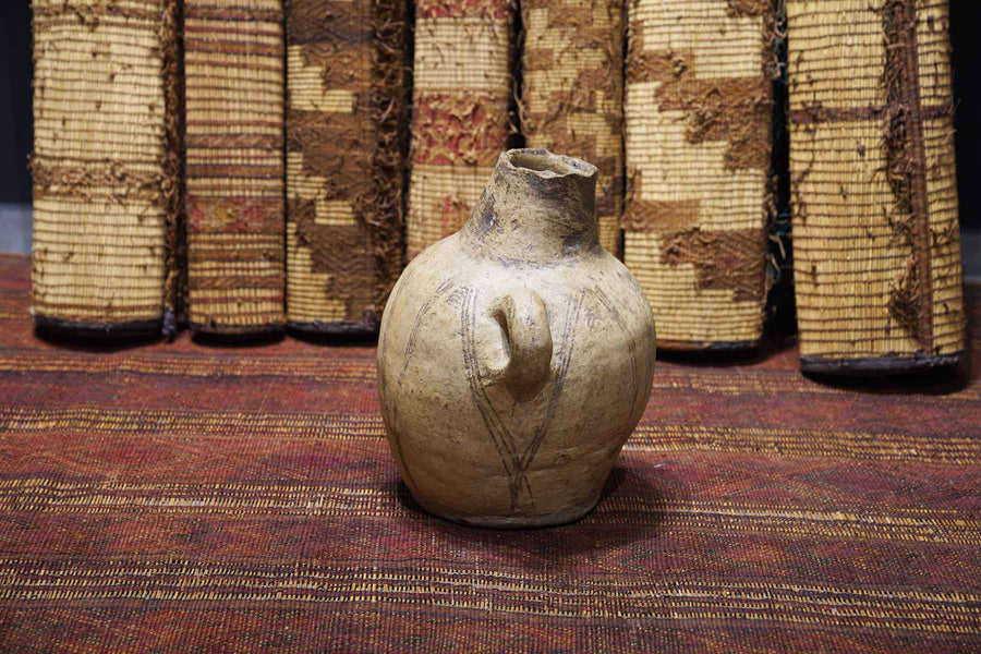 Moroccan Antique Pot the side