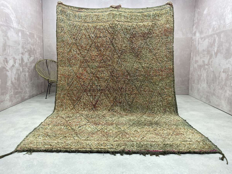 Tapis Vintage Marocain - Mariano - 10.23 x 6.95 ft / 3.12 x 2.12 m