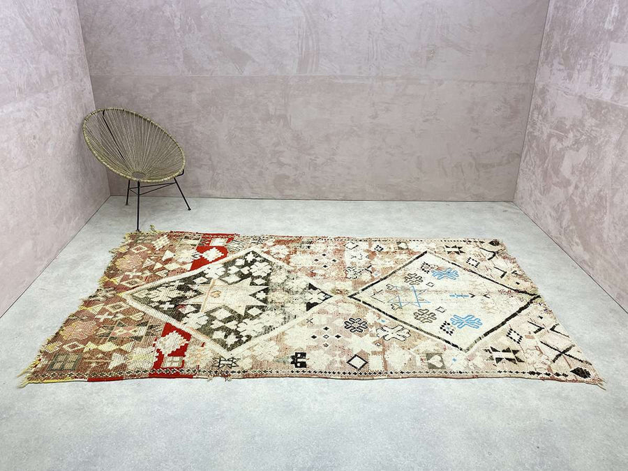 wide shot of a Vintage Moroccan Rug
