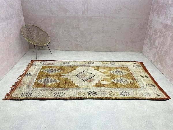 wide shot of a Moroccan Vintage Rug