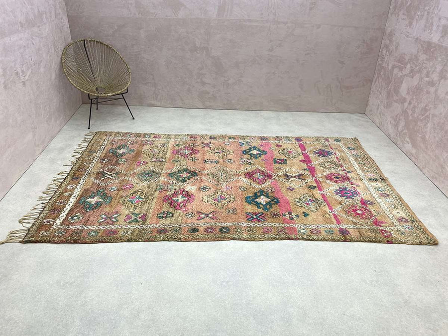 borders of a Vintage Moroccan Rug