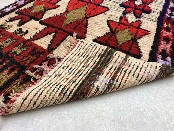Long view of a Vintage Moroccan Rug
