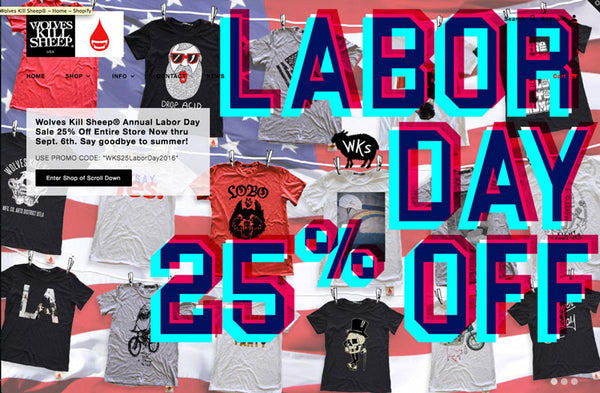 Wolves Kill Sheep Labor Day Sale 2016