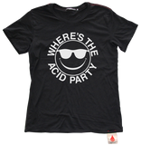 Where's the Acid Party Black Tee