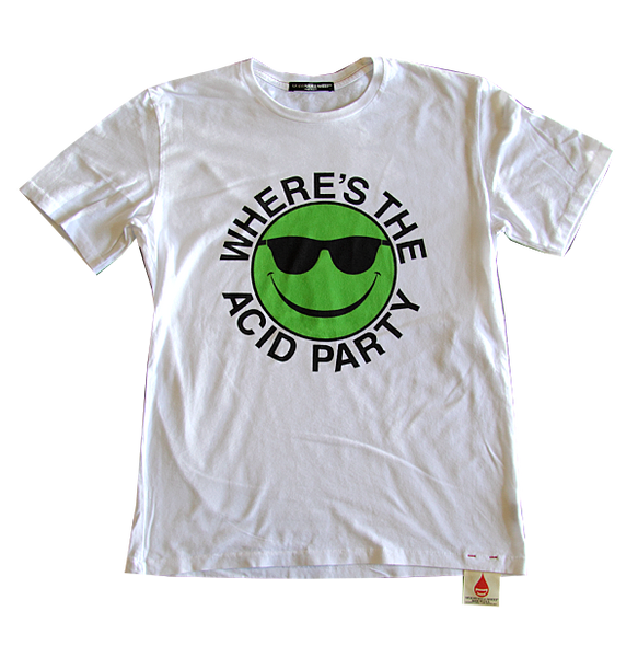 Where's the Acid Party White Tee