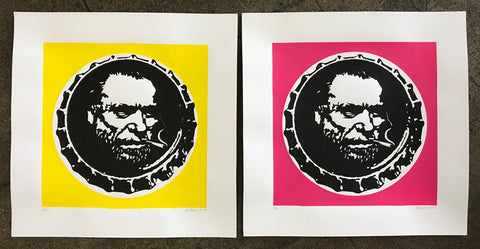Charles Bukowski Bottle Cap Prints by Elvis Segarich