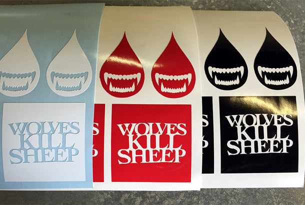 Wolves Kill Sheep : Assorted Stickers 3 Pack - Wolves Kill Sheep®