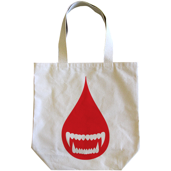 Wolves Kill Sheep : Blood Drop Tote Bag - Wolves Kill Sheep®  - 1