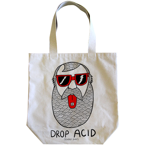 Michael C Hsiung : Drop Acid Tote Bag - Wolves Kill Sheep®  - 1