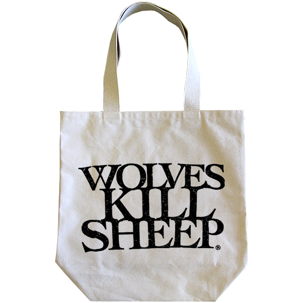 Wolves Kill Sheep : Stacked Logo Tote Bag - Wolves Kill Sheep®  - 1