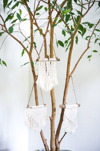Small pieces of hand woven mini macrame locally made. #macrame