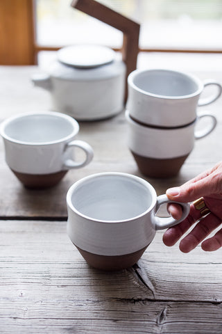 Ceramic Nesting Mugs (set of 4)