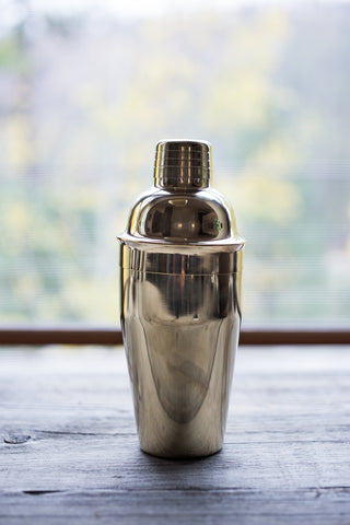 Polished Brass Cocktail Shaker