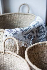 beautiful storage baskets are hand-woven in Vietnam with a fine, tight weave #baskets #storage