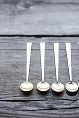 Super popular, quirky yet glamorous Nagasaki mini gold caviar spoons (6 Piece Set) #caviar