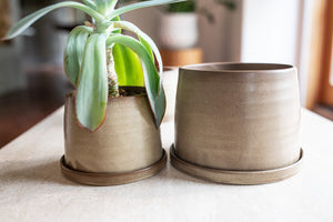 porcelain plant pot, taupe pot, pottery, #planters