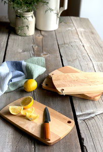 small cheese board, herb cutting board | www.bowlandpitcher.com