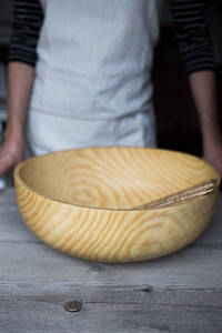 Large Pine Bowl | www.bowlandpitcher.com #woodbowls #handturned #Largewoodbowl
