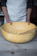 Load image into Gallery viewer, Large Pine Bowl | www.bowlandpitcher.com #woodbowls #handturned #Largewoodbowl