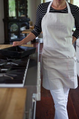 Striped Cotton Apron