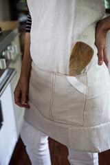 striped cotton apron | www.bowlandpitcher.com