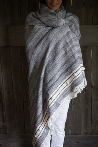 This Alpaca blanket is woven by a fair trade, family-owned weaving company in Peru. #Blanket #Alpaca