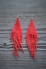 Huichol Hand Beaded Earrings