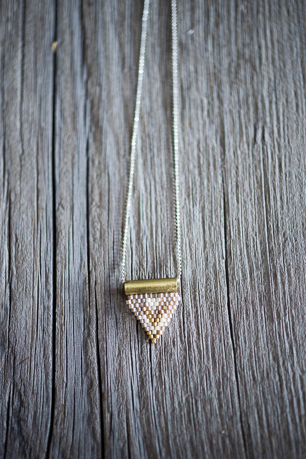 Brass Bail Beaded Triangle Pendant Bowl Amp Pitcher