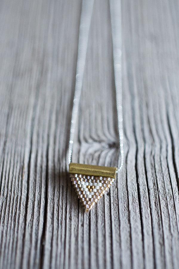 Brass Bail Beaded Pendant | www.BowlandPitcher.com