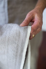 100% hand-spun Khadi linen is our favorite..it's a heavier, sturdier linen #linenteatowel #linen