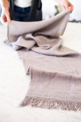 "Handmade 100% linen table runner 75""x19""wide with frayed ends and quality stitching #tablerunner"