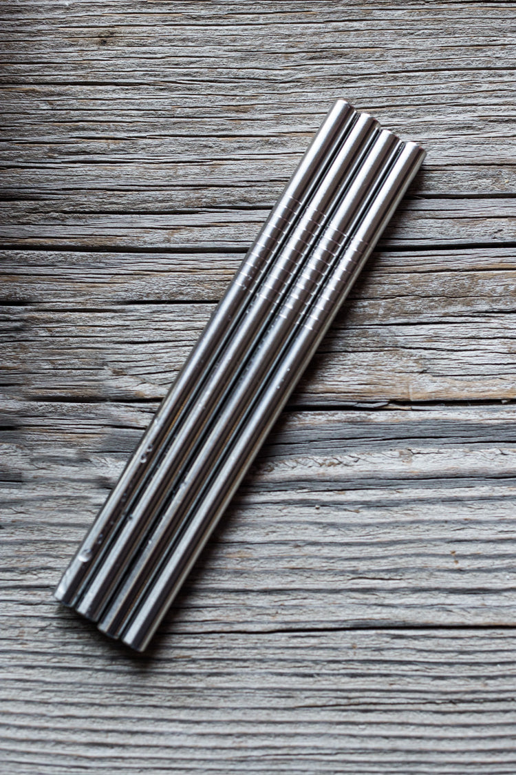 Plastic is out and reusable stainless steel is in! #metalstraw #straws