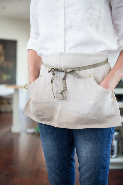 Half Apron With Pockets Workers Apron