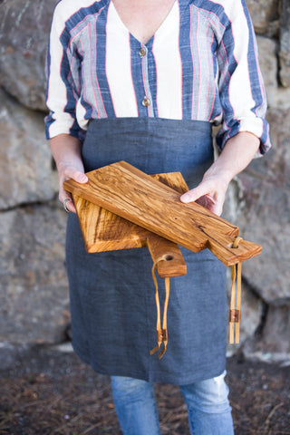 Olive Wood Cutting Boards | Set of 2