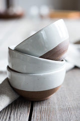 Set of 3 beautiful terracotta bowls are expertly hand crafted with solid clay, then glazed #bowls