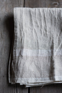 Laundered Linen Tea Towel