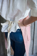 Load image into Gallery viewer, striped cotton apron with ticking ties