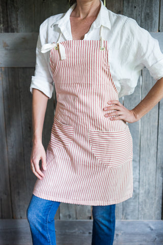 Striped Cotton Apron | Traditional