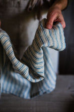 Load image into Gallery viewer, Boat stripe linen tea towel | www.bowlandpitcher.com