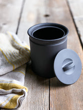 Load image into Gallery viewer, Ceramic Crock | Larder Crock | Matte Black Crock | www.bowlandpitcher.com